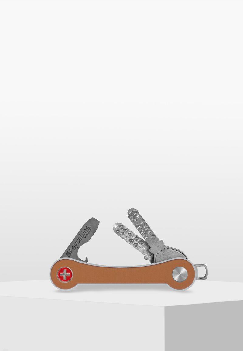Keycabins - SWISS  - Porte-clefs - gold matt-frame