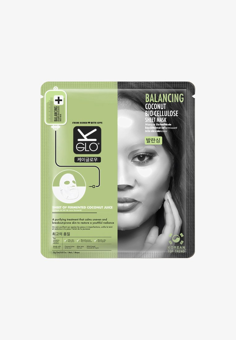 K-Glo - BALANCING BIO-CELLULOSE SHEET MASK 25ML - Ansiktsmask - neutral