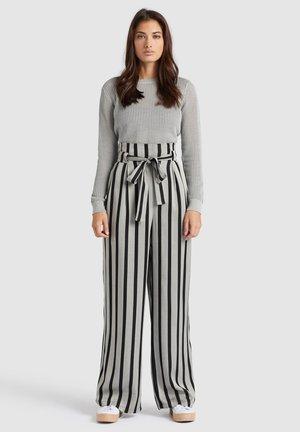 EIVOLA - Pantalones - black grey
