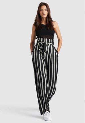EIVOLA - Trousers - grey/black