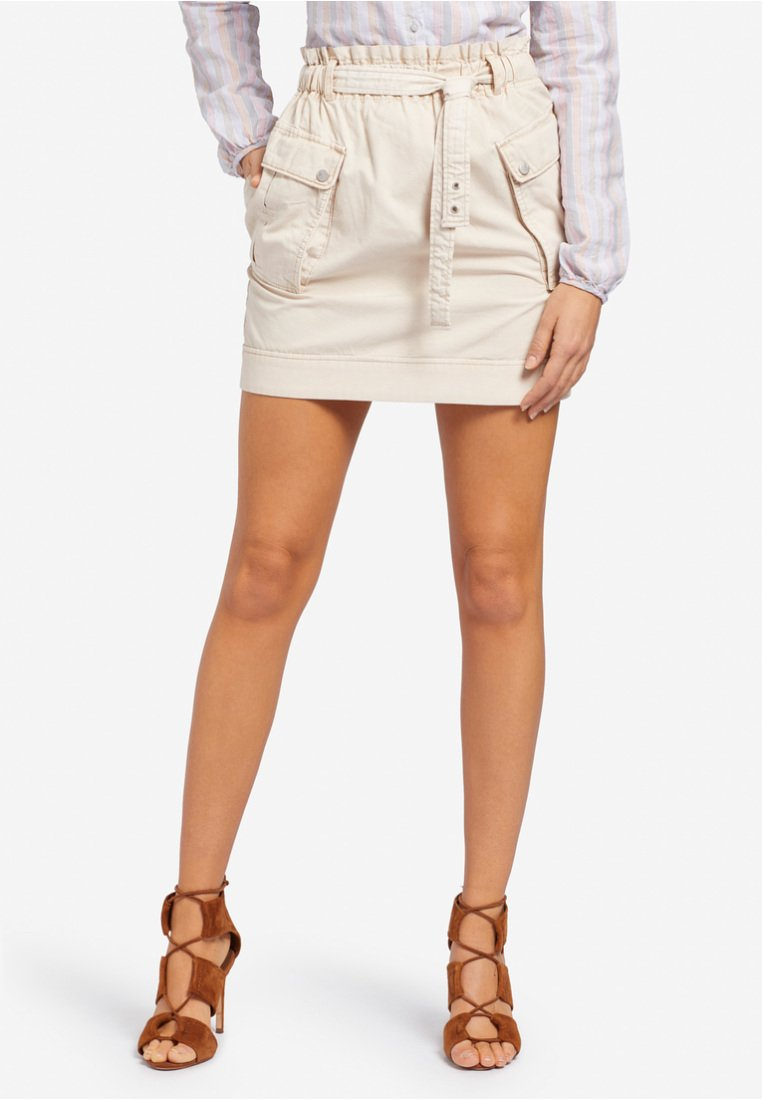 khujo - GUTHRIE - Mini skirt - beige