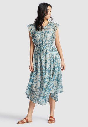ANISA - Day dress - blue/white