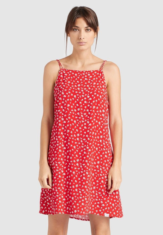 LEBONA - Day dress - red ditsy
