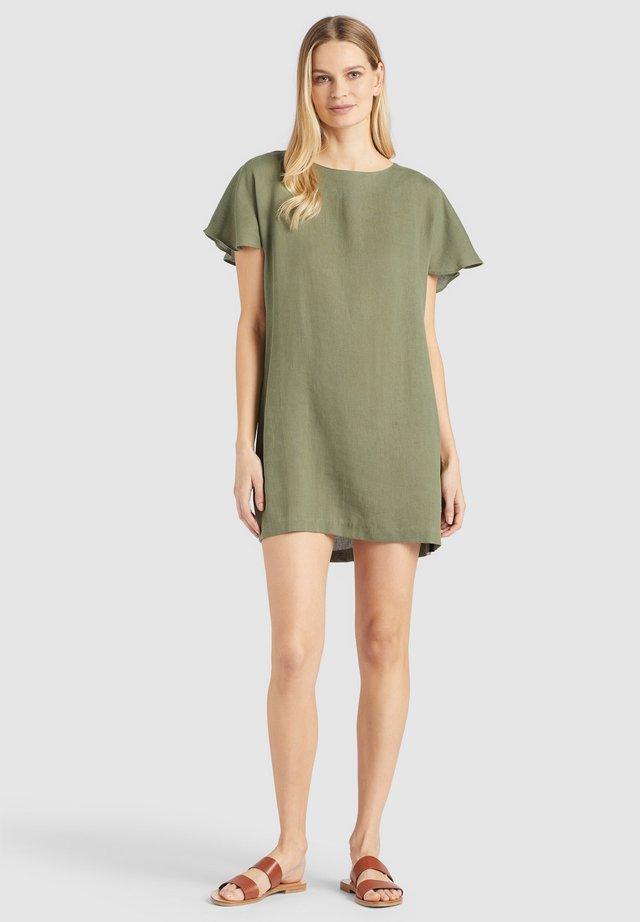 AKAULA - Korte jurk - olive