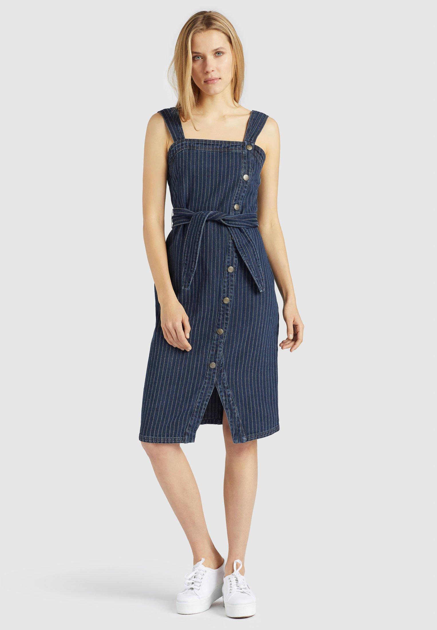 Khujo Avigail - Denim Dress Dark Blue