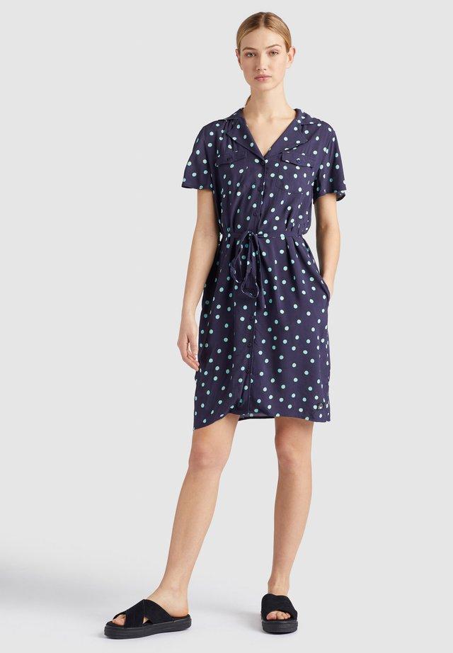 ELIZAVETA - Shirt dress - xb9 blue colourful spot aop