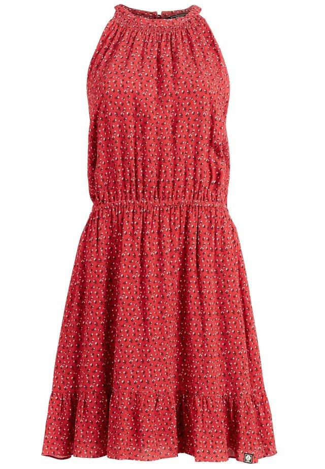 Sukienka letnia - rot geblümt