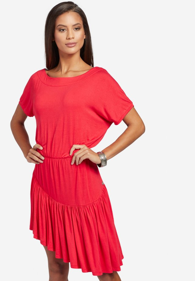PENDARA - Jersey dress - red