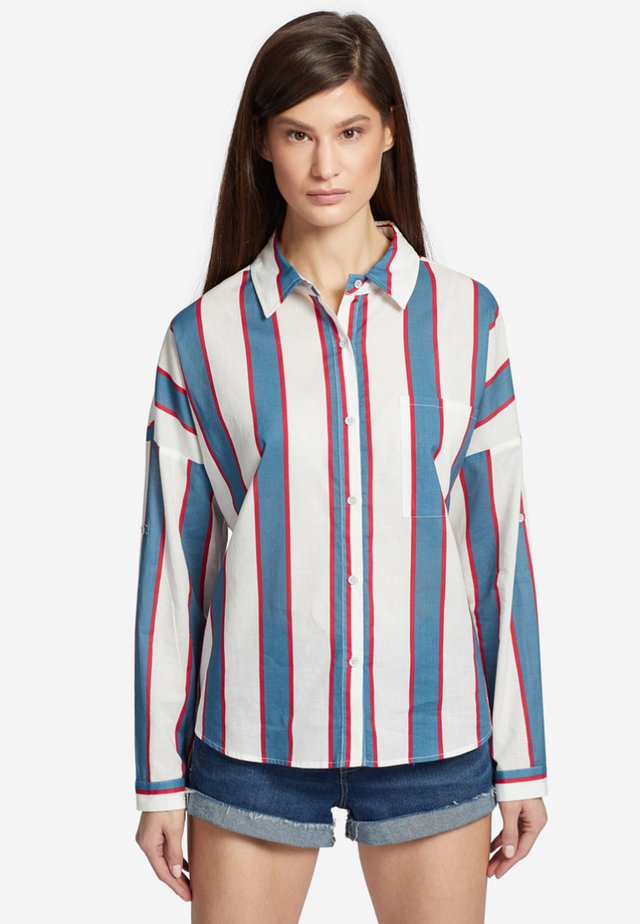 HEMDBLUSE JUNIA - Button-down blouse - red/blue