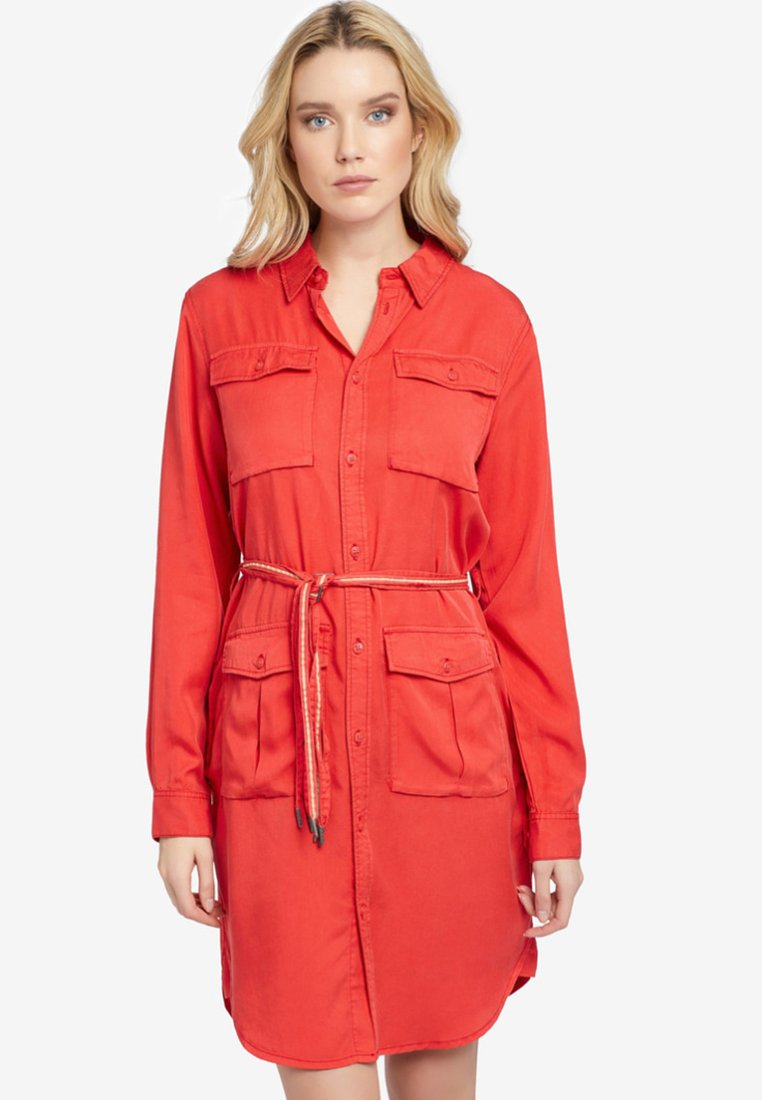 khujo - LEANNA - Shirt dress - red