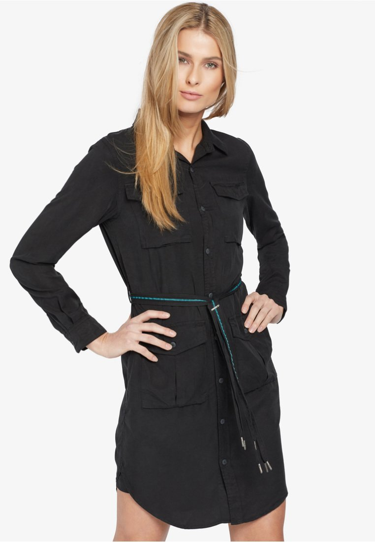 khujo - LEANNA - Shirt dress - black