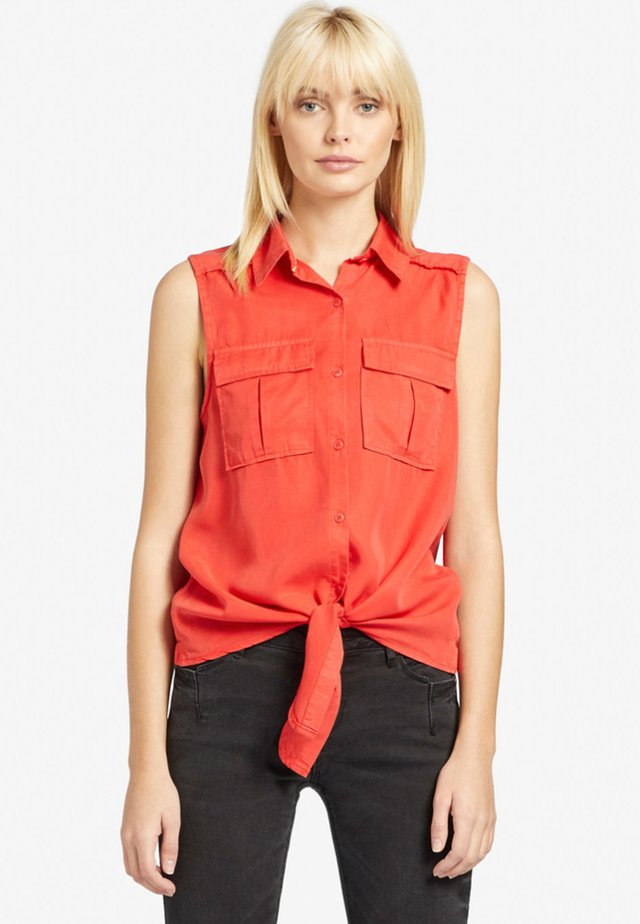 LANA - Button-down blouse - red
