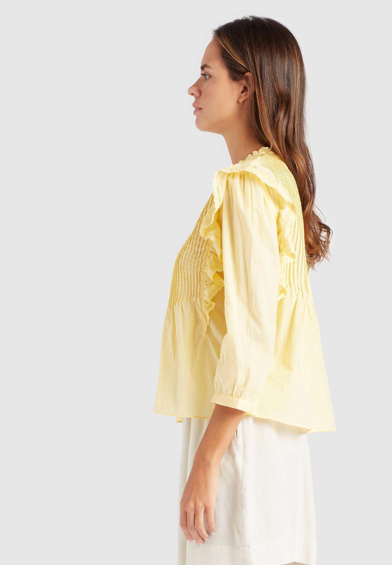 khujo HALIA - Bluzka - yellow