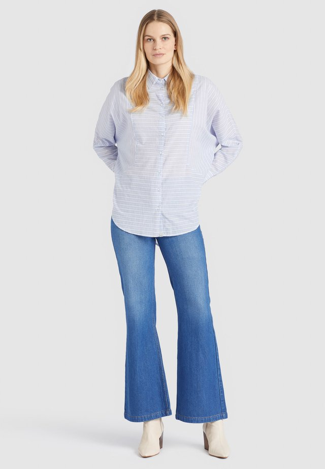 HINDE - Button-down blouse - blue/white
