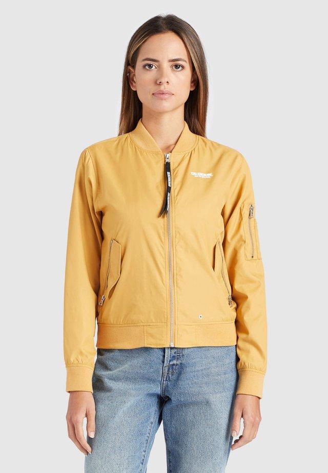 KALIA - Bomber Jacket - beige/yellow
