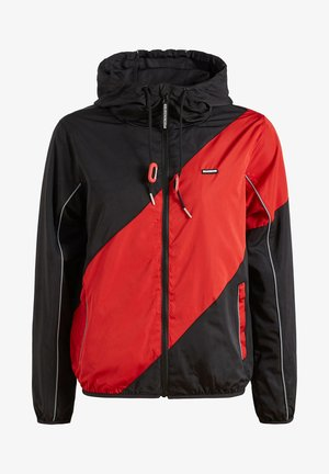 AKAMU - Summer jacket - black/red