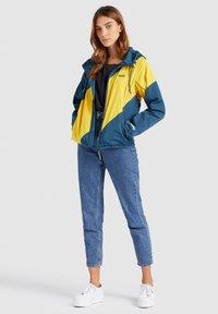 khujo - AKAMU - Summer jacket - denim blue/yellow - 1