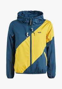 khujo - AKAMU - Summer jacket - denim blue/yellow - 6