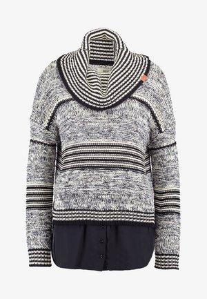 VANNI - Pullover - black/white