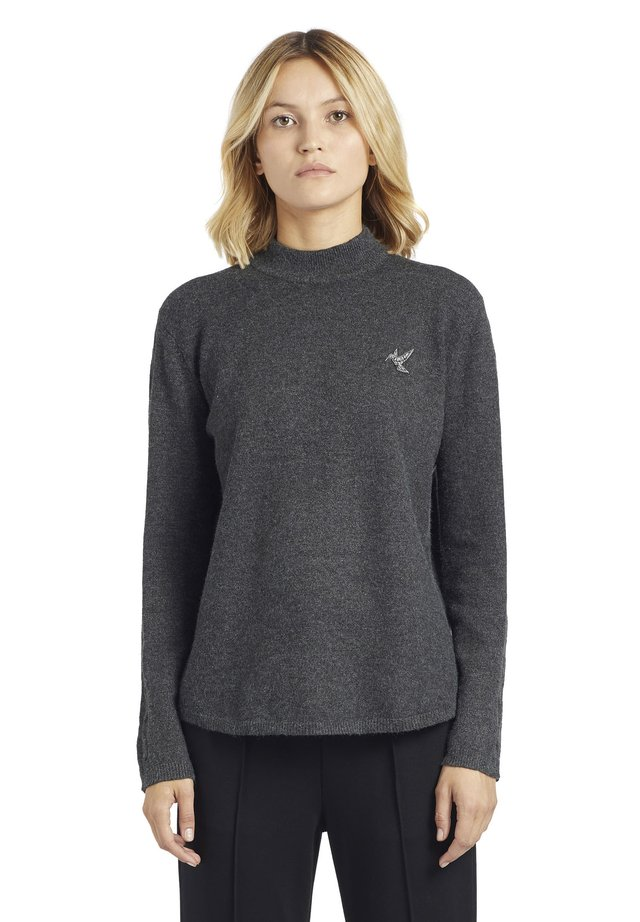 LOURDES - Strickpullover - washed black