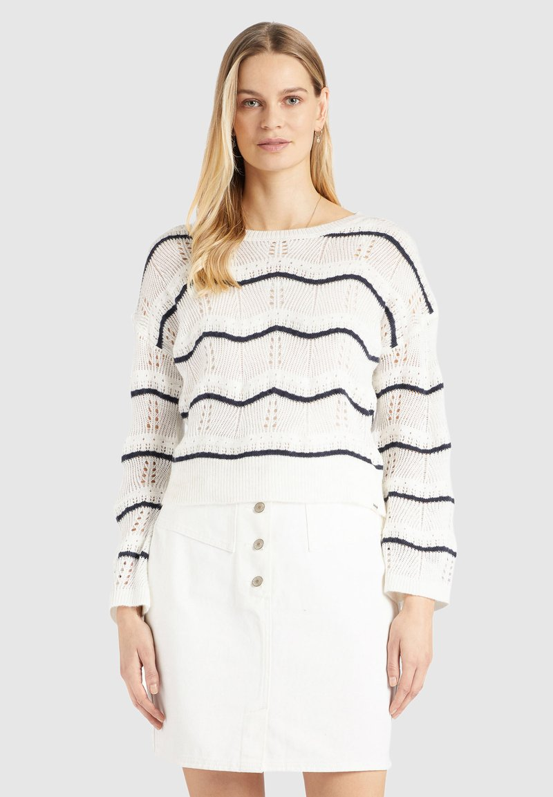 khujo - BHEKA - Jersey de punto - off-white