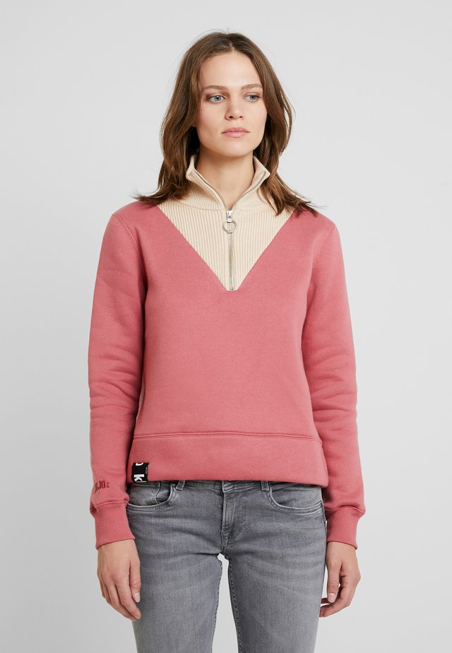 Sweatshirt - cream red combo