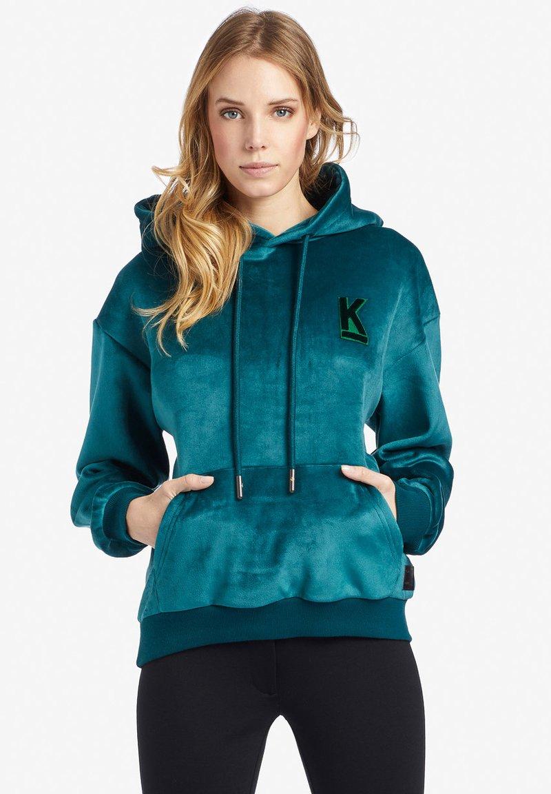 khujo - REBEKA - Kapuzenpullover - turquoise
