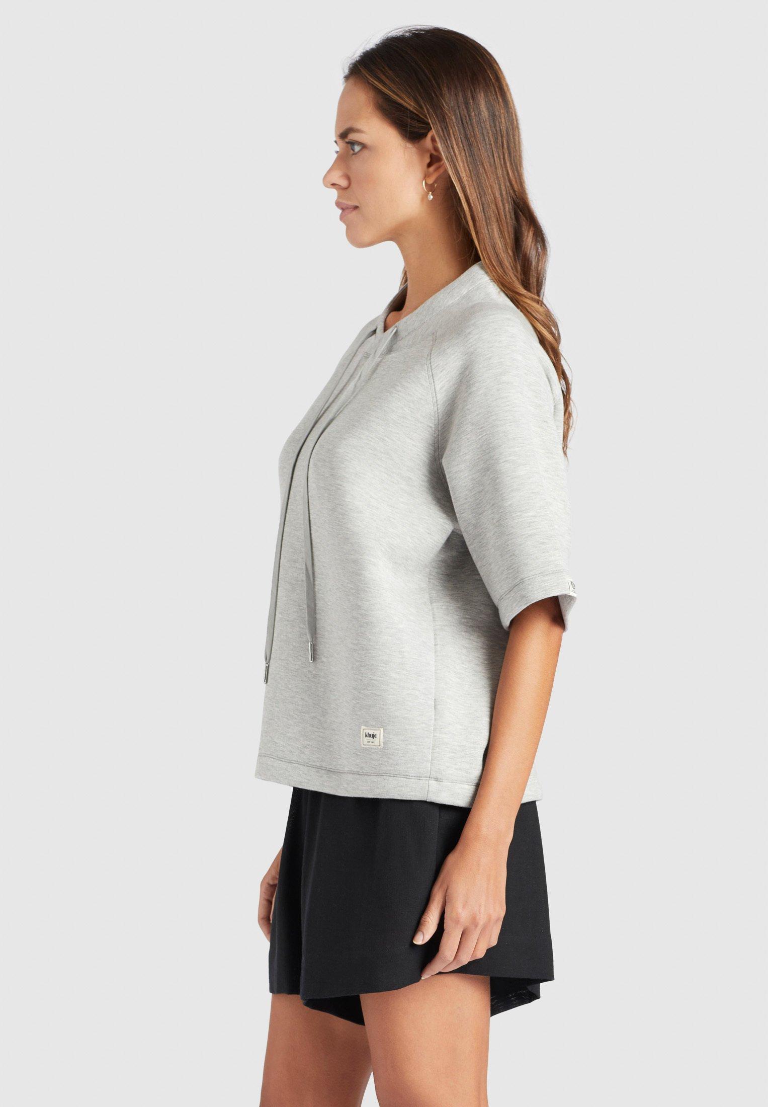 khujo AMENA - T-shirt z nadrukiem - grey