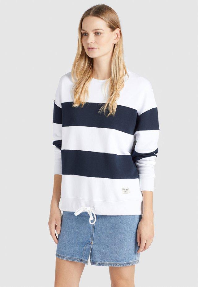 NECHANA - Sweatshirt - white/blue