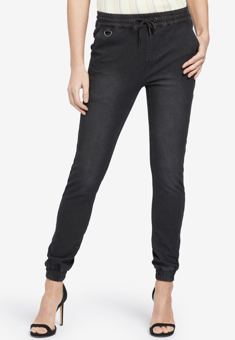 khujo - ERIE - Jeans Tapered Fit - black