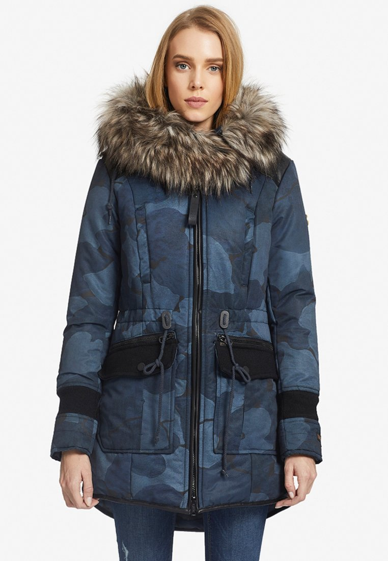 khujo - RETRO BUGS - Winter coat - blue