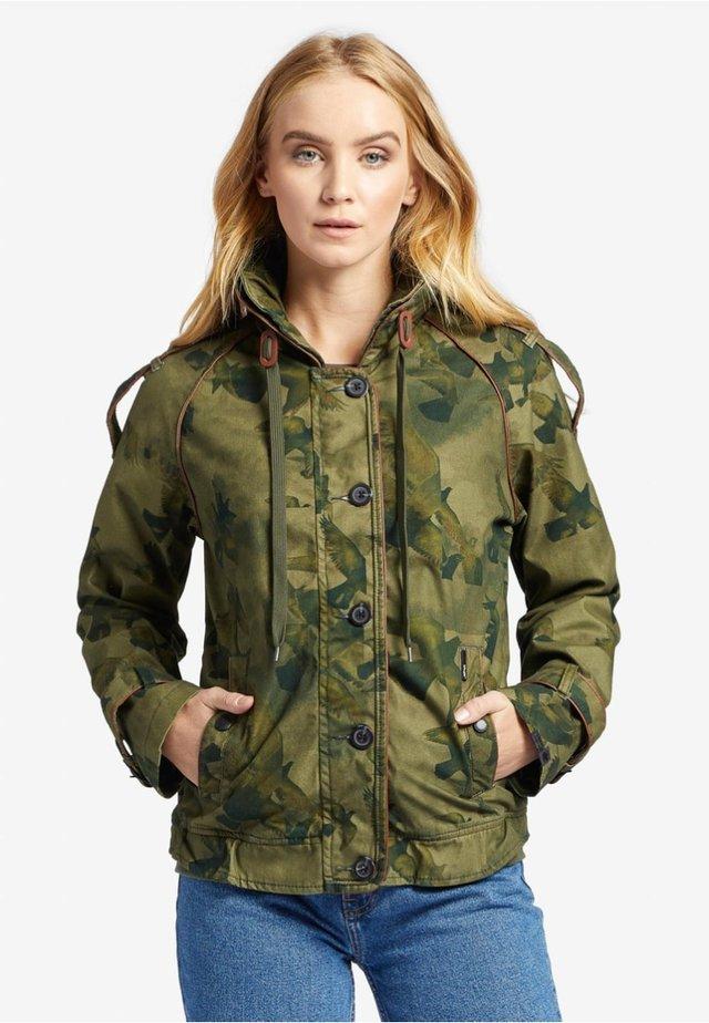 STACEY - Light jacket - khaki gemustert