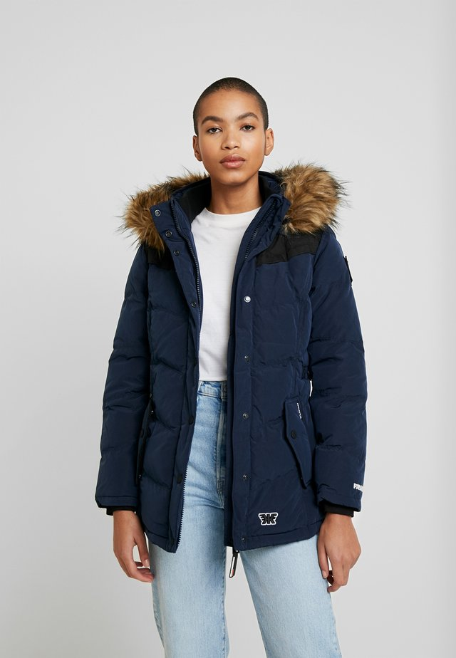 Winterjacke - peached navy