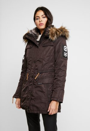 Abrigo de invierno - dark chocolat