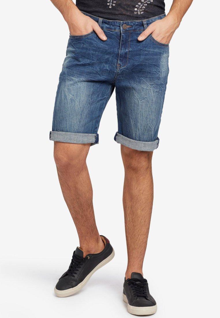 khujo - KIMCHI - Jeans Shorts - dark blue