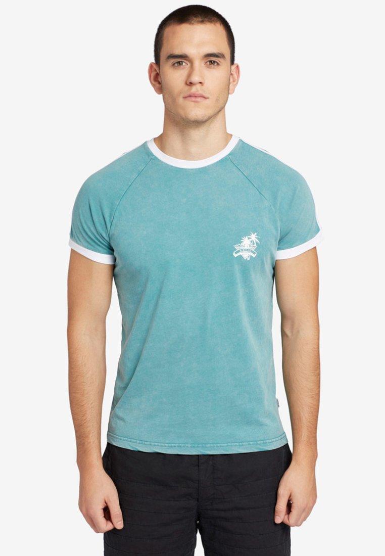 khujo - JUSTUS - Camiseta estampada - turquoise