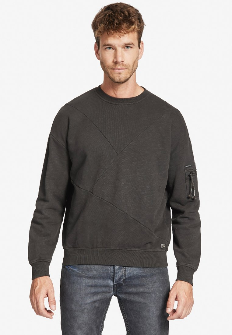 khujo - TANGENT - Sweatshirt - dark brown