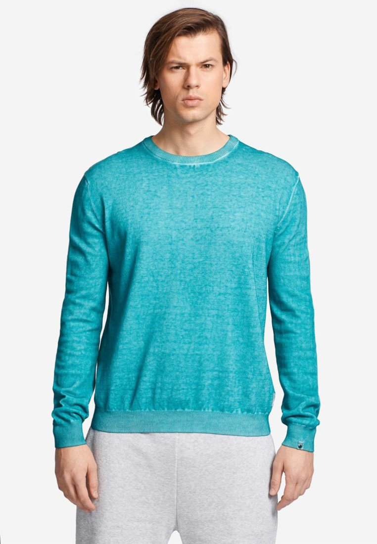 khujo - LYSOS OUTER TAPE - Strickpullover - green