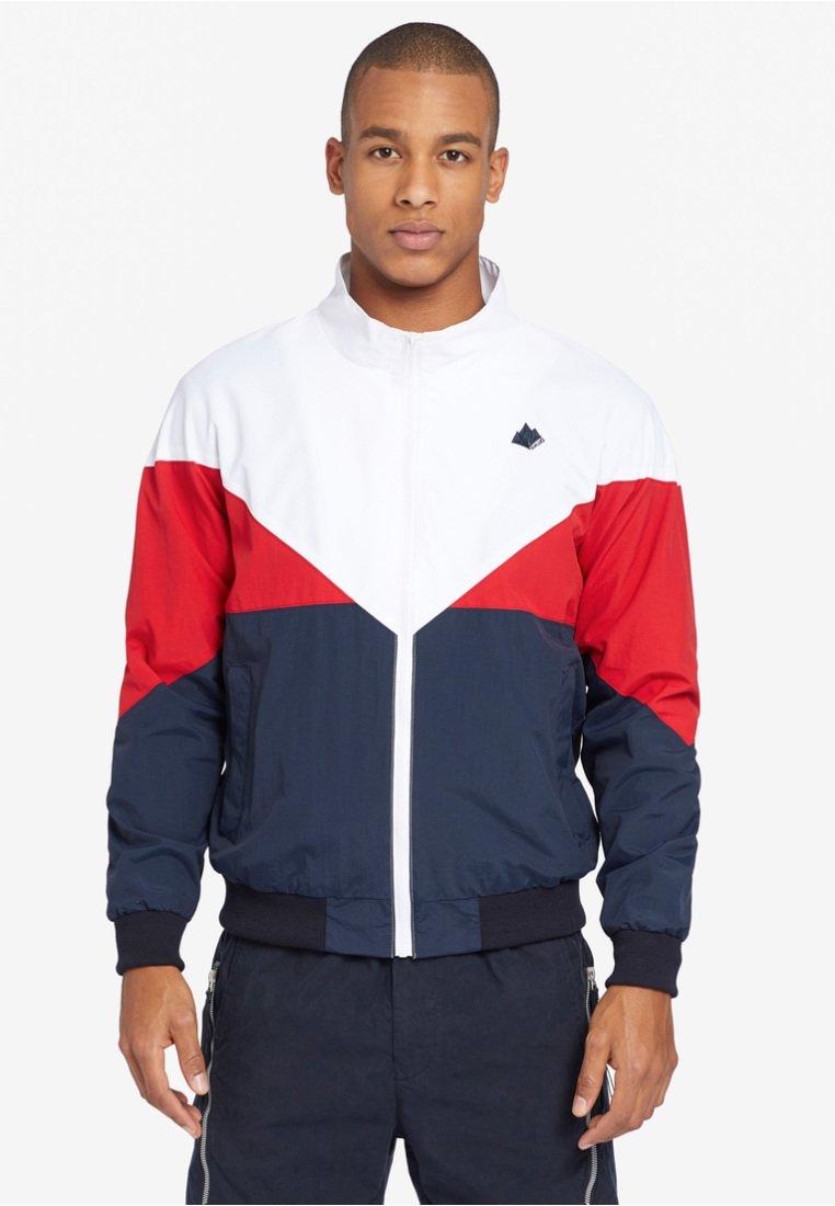 khujo - KRUZ - Summer jacket - dunkelblau/rot/weiß