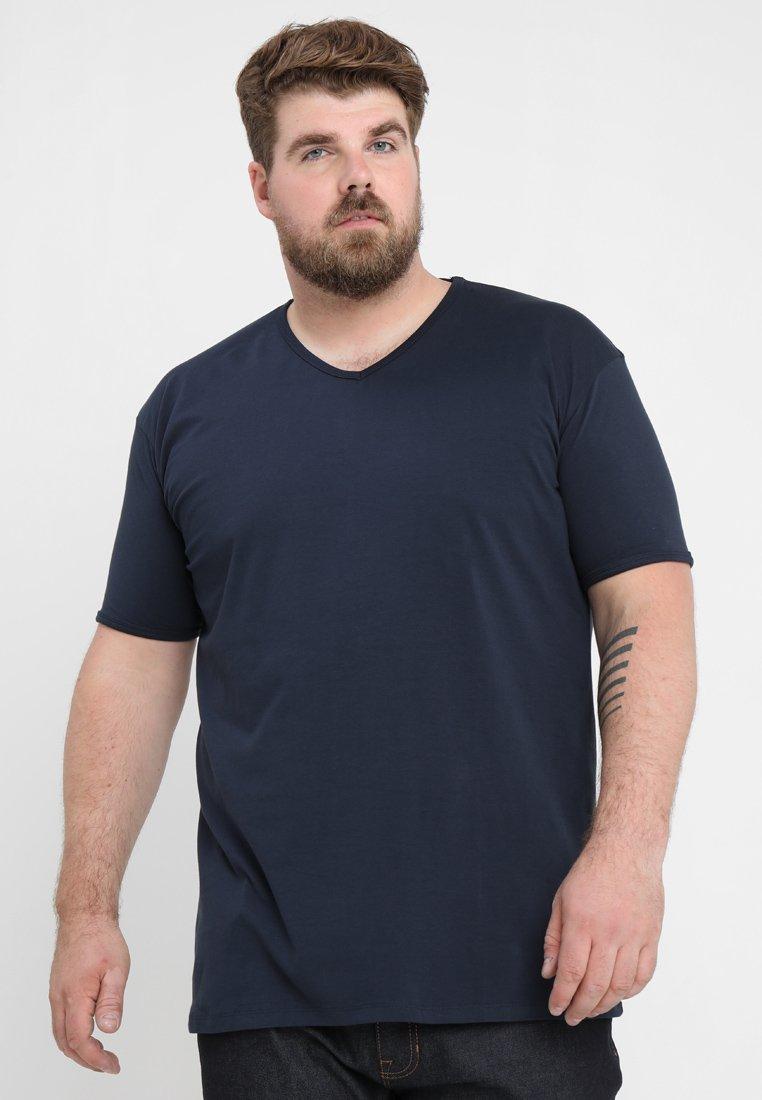 Kitaro - BASIC V-NECK - T-shirt basic - navy