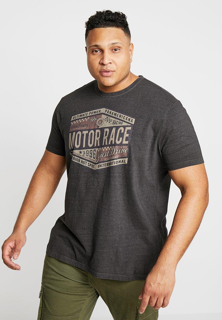 Kitaro - Camiseta estampada - black melange