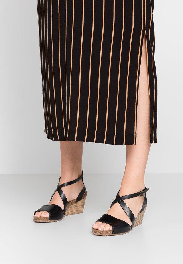 SPAGNOL - Sandalen met sleehak - noir
