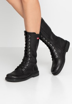 MEETKICKNEW - Stivali con i lacci - noir