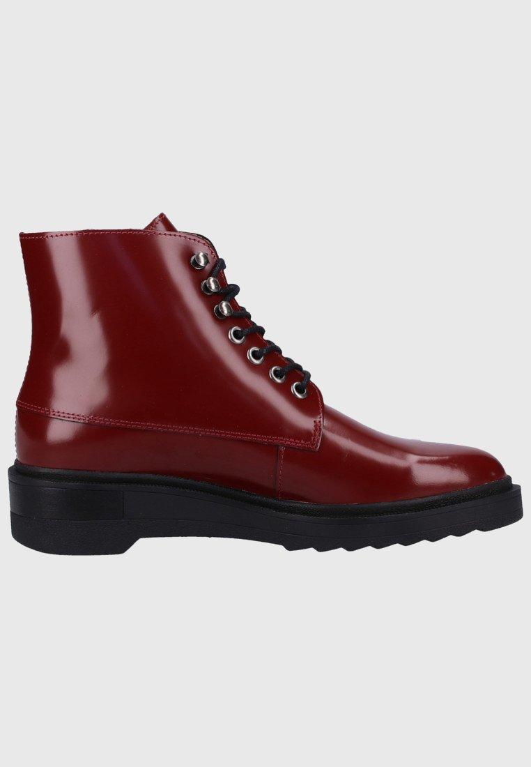 Kickers Bottines à lacets dark red