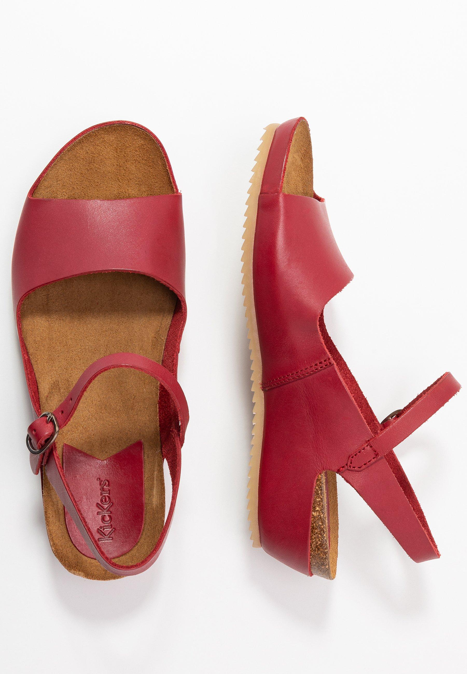 Kickers Takika - Sandaletter Med Kilklack Rouge