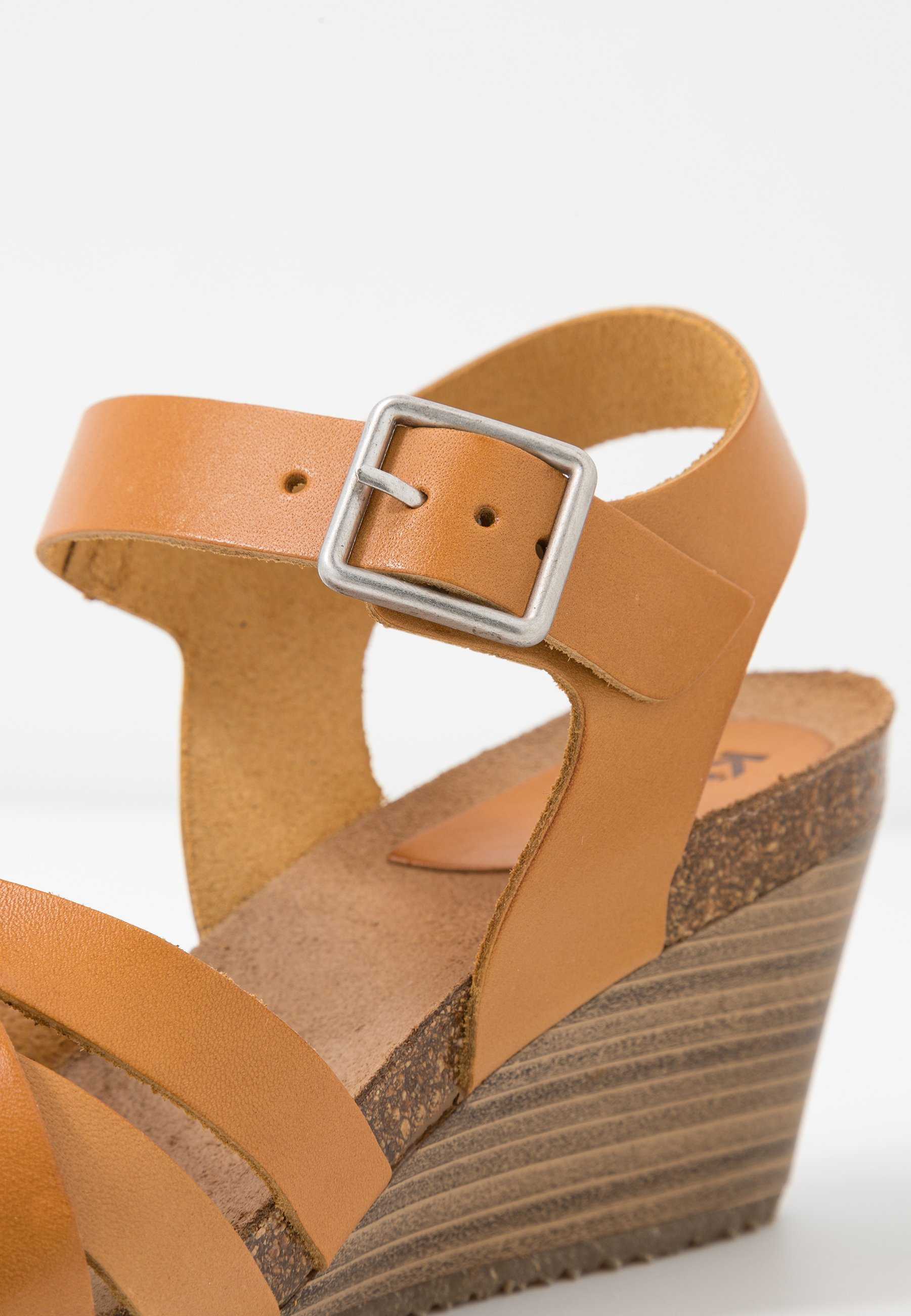 Kickers SOLYNA - Sandaletter med kilklack - jaune safran