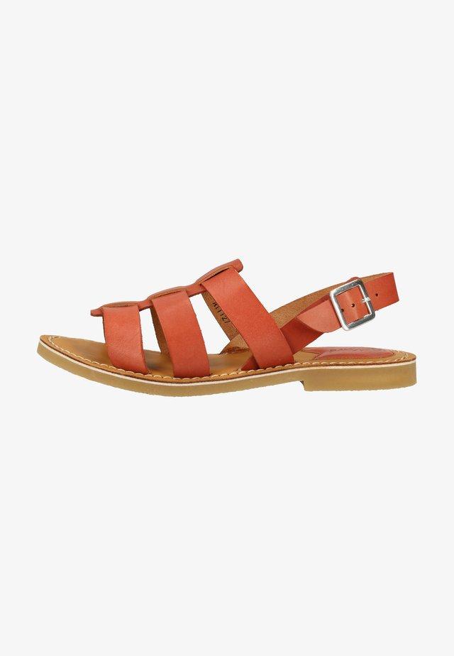 Sandals - camel brick