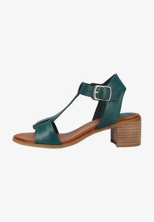Ankle cuff sandals - prussian blue