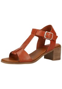 Kickers - Ankle cuff sandals - brick red - 2