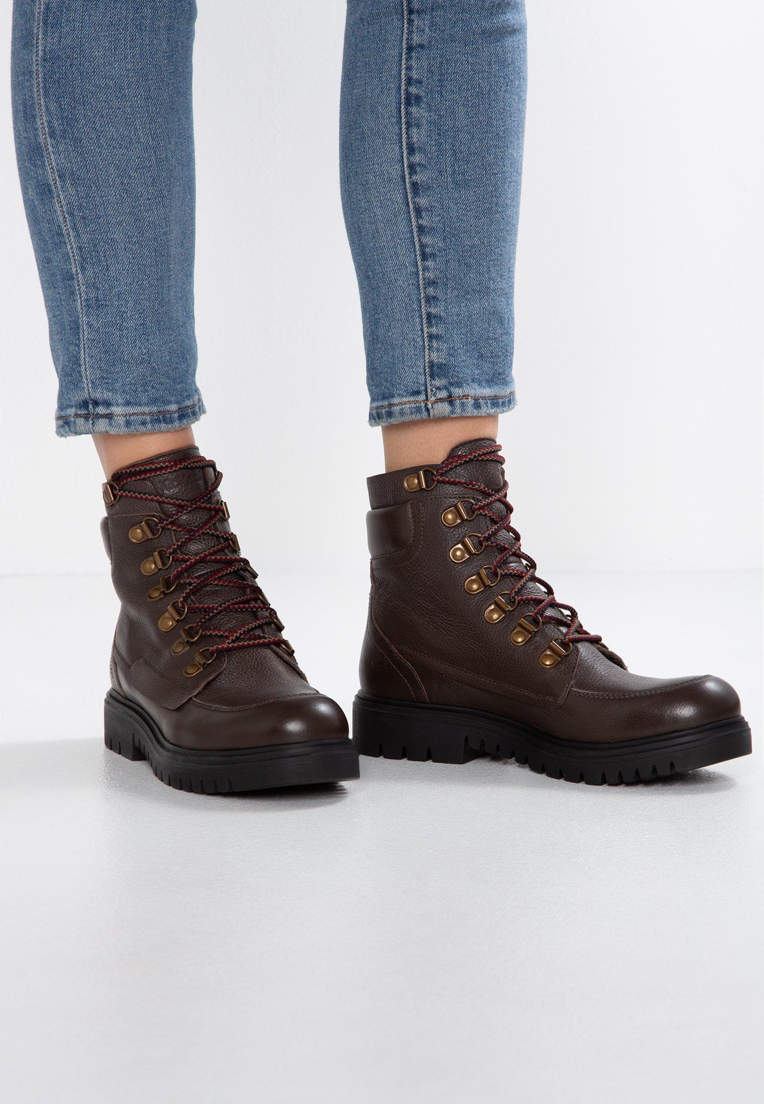 Kickers ISERANE - Bottines à lacets maroon